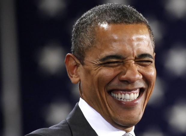 Obama risata